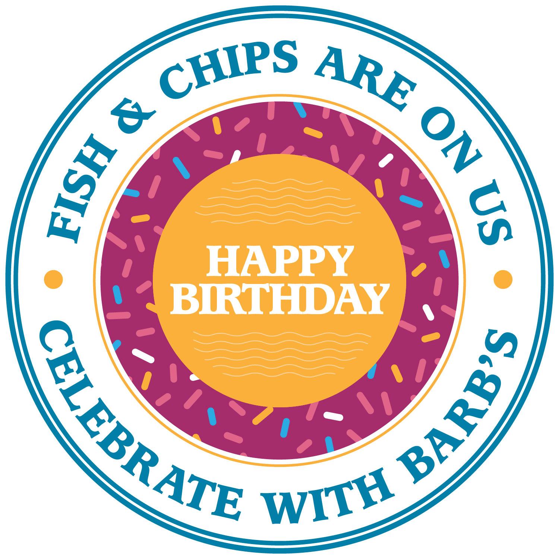 barbs birthday bash badge